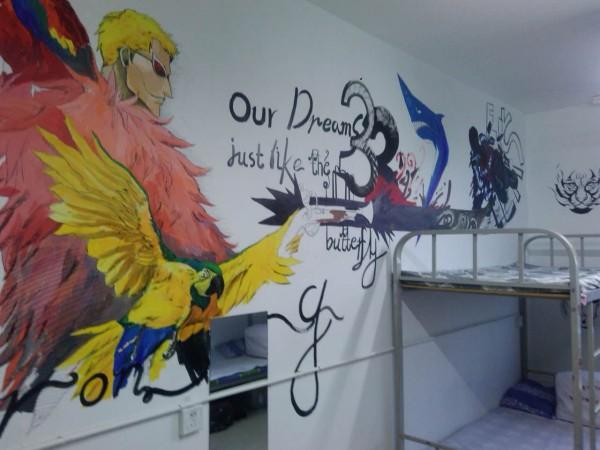 计专业寝室手绘墙